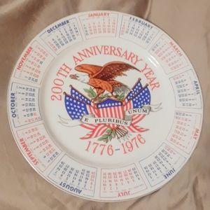Other - 4/$20 200th Anniversary Calendar/Plate